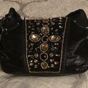 Flashy black/gold bag